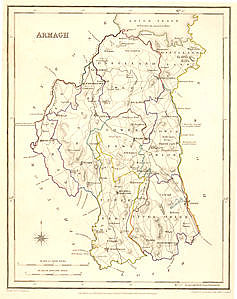 Armagh, click for larger map - allow some time to download