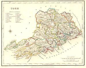 Map Of Cork County Ireland.Map Of Ireland