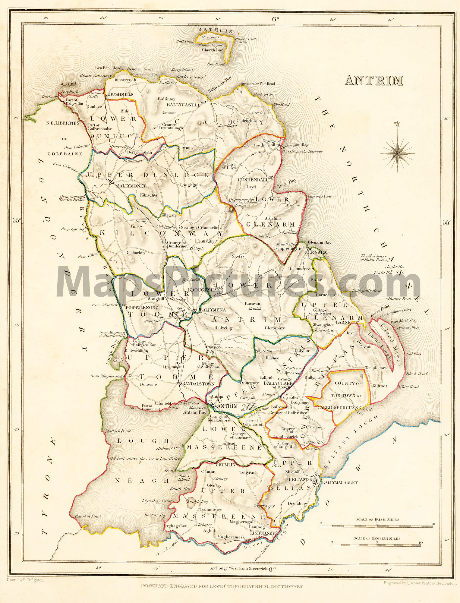 Maps And Pictures County Maps Of Ireland From 1837