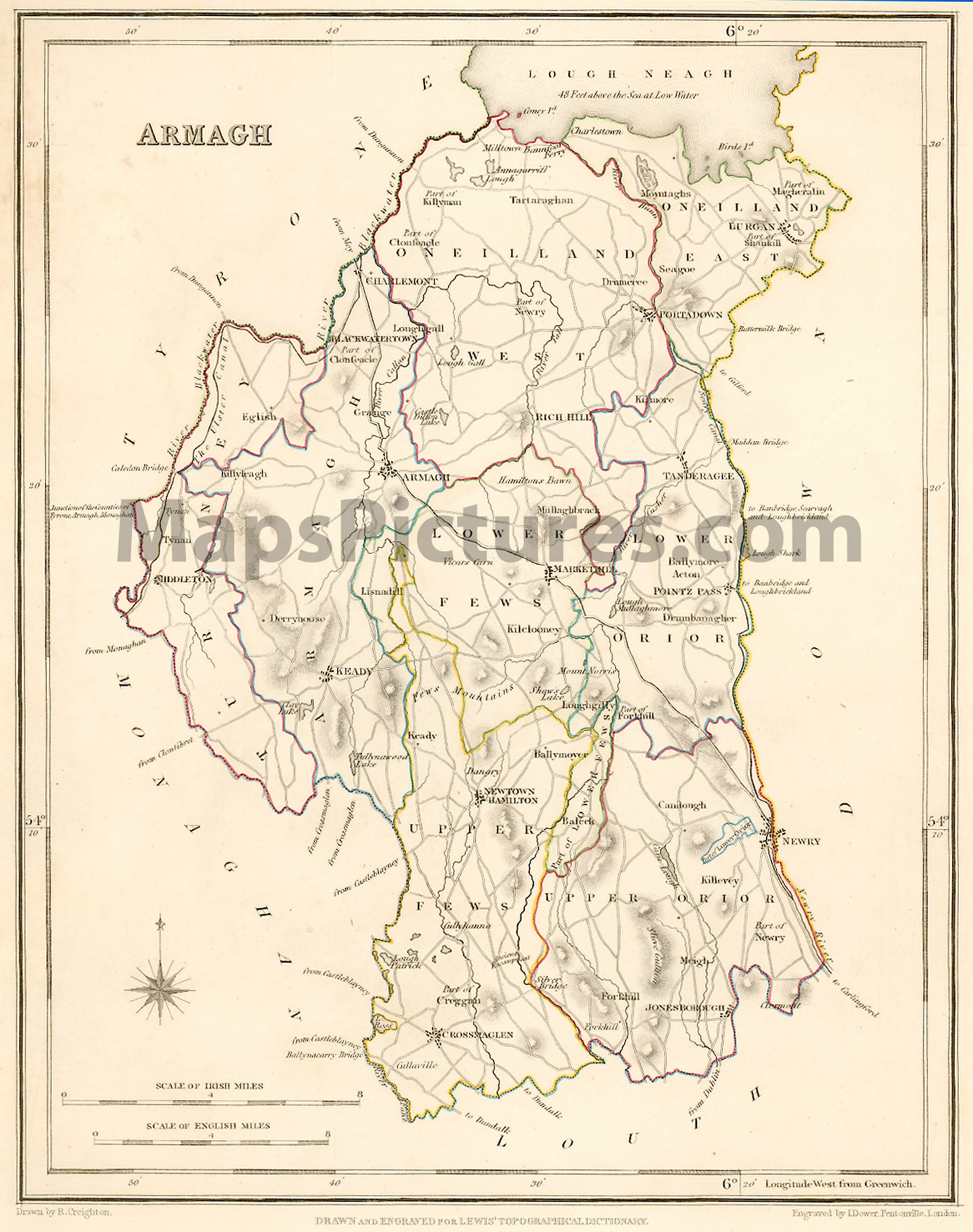 County Armagh Ireland Map 1837
