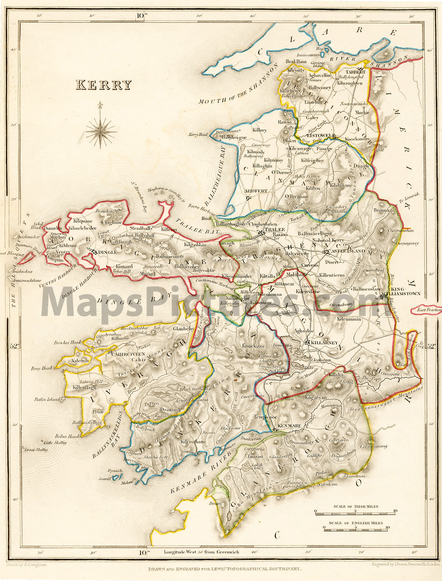 Road Map Of Ireland With Counties.Historic Maps All Island Ireland Map Collections At Ucd